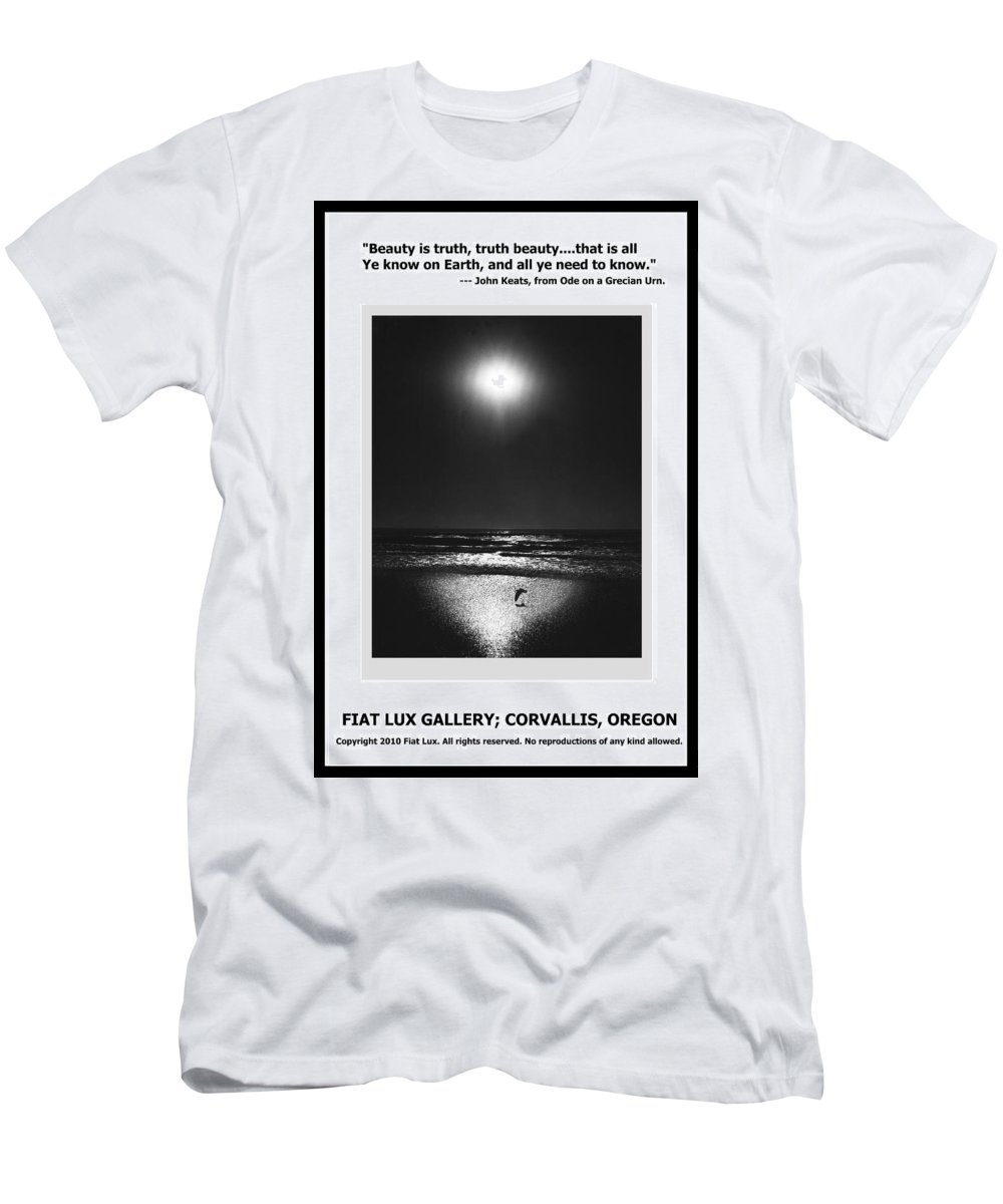 Gulls Men's T-Shirt (Athletic Fit) featuring the photograph Beauty Is Truth by Michael Moore