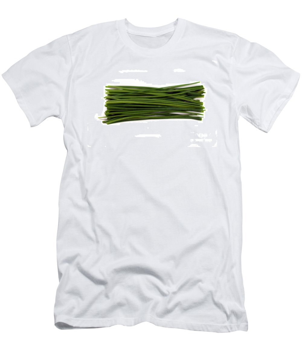 Isolated Men's T-Shirt (Athletic Fit) featuring the photograph Chives by Henrik Lehnerer