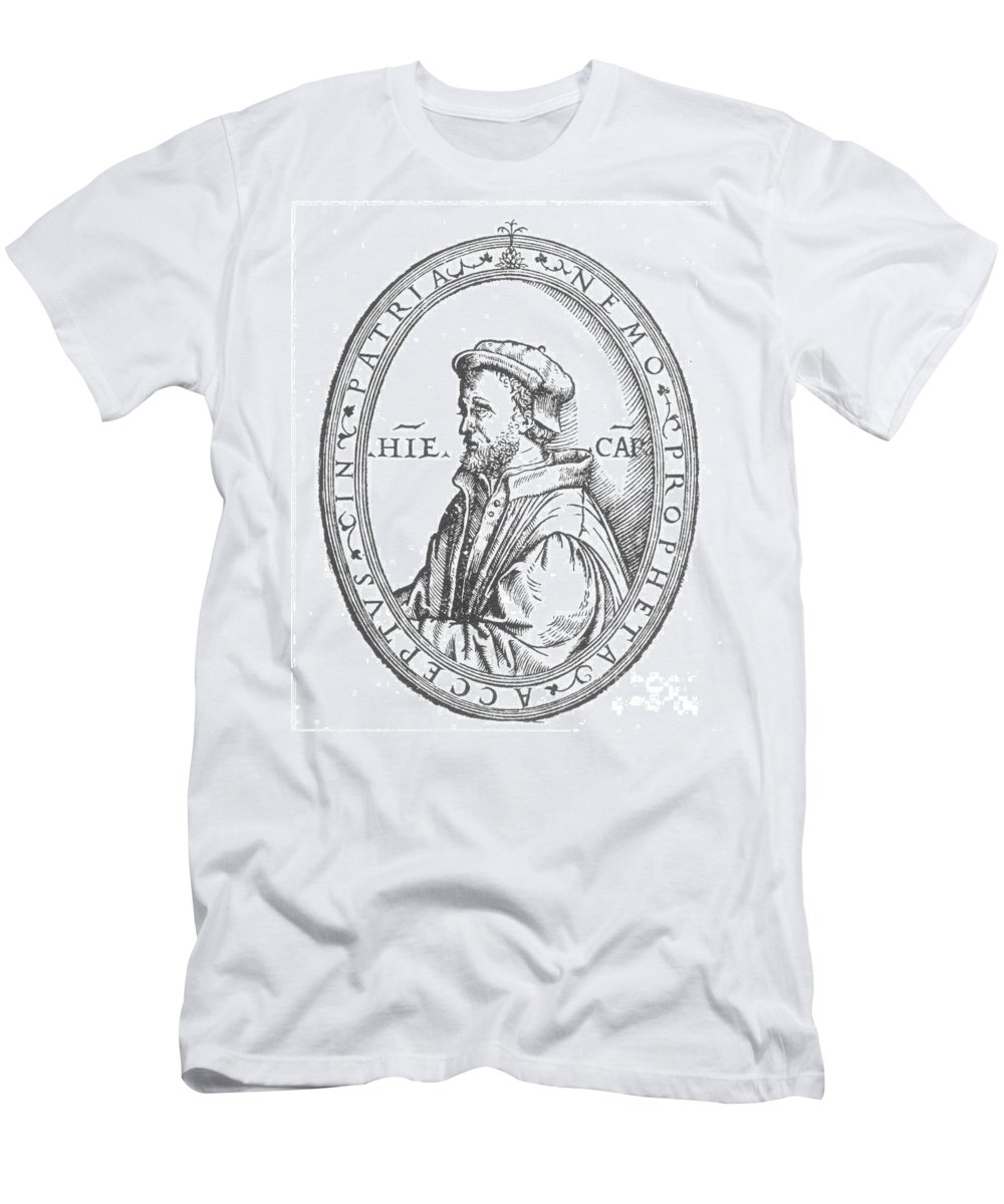 16th Century Men's T-Shirt (Athletic Fit) featuring the photograph Geronimo Cardano by Granger