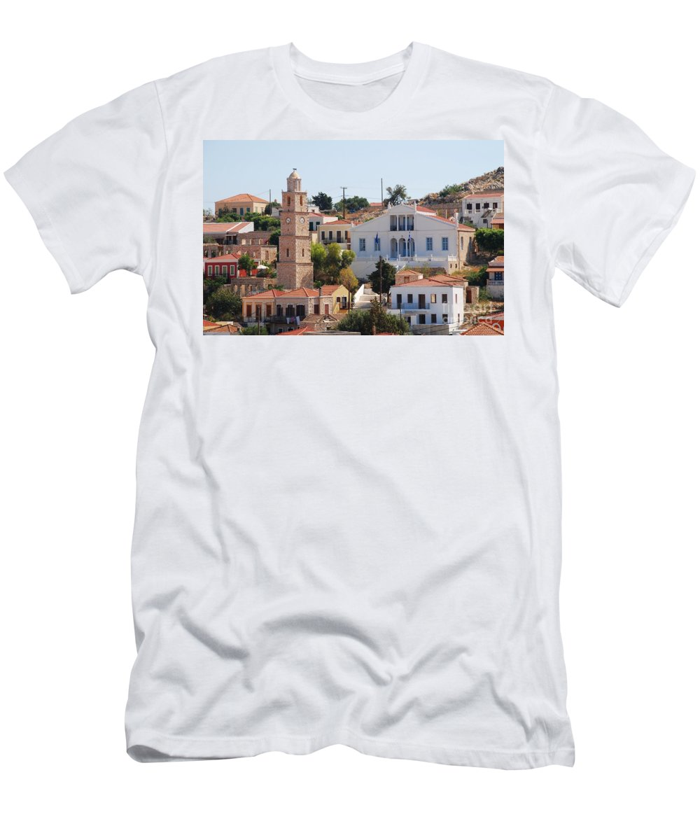Halki Men's T-Shirt (Athletic Fit) featuring the photograph Halki Island Greece by David Fowler