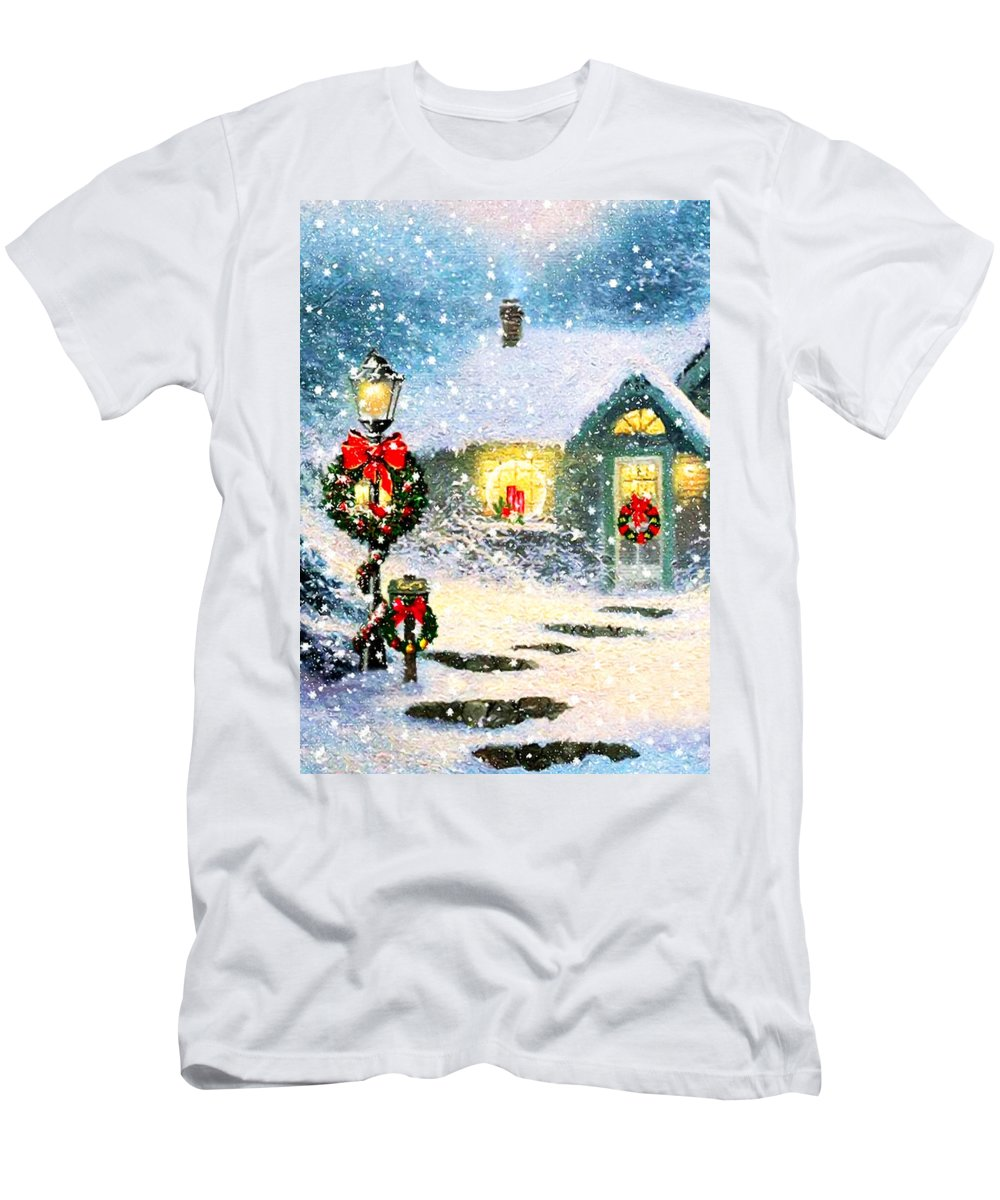 Vintage Men's T-Shirt (Athletic Fit) featuring the photograph Home Sweet Home by Munir Alawi
