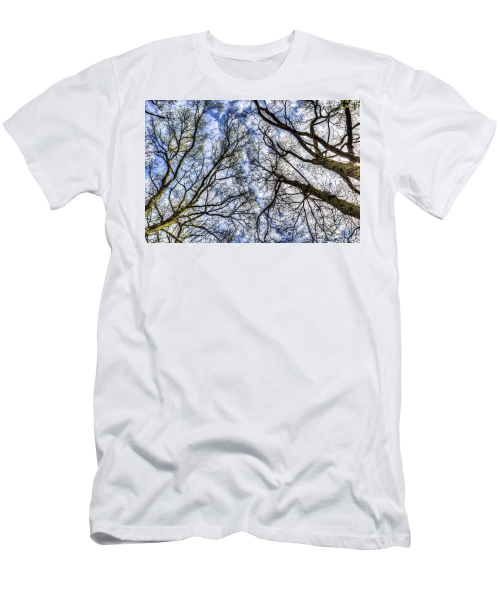 Forest Men's T-Shirt (Athletic Fit) featuring the photograph Into The Trees by David Pyatt