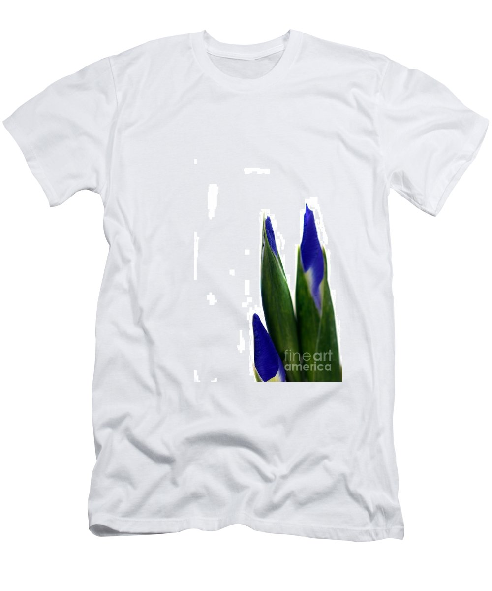 Purple Men's T-Shirt (Athletic Fit) featuring the photograph Iris by Henrik Lehnerer