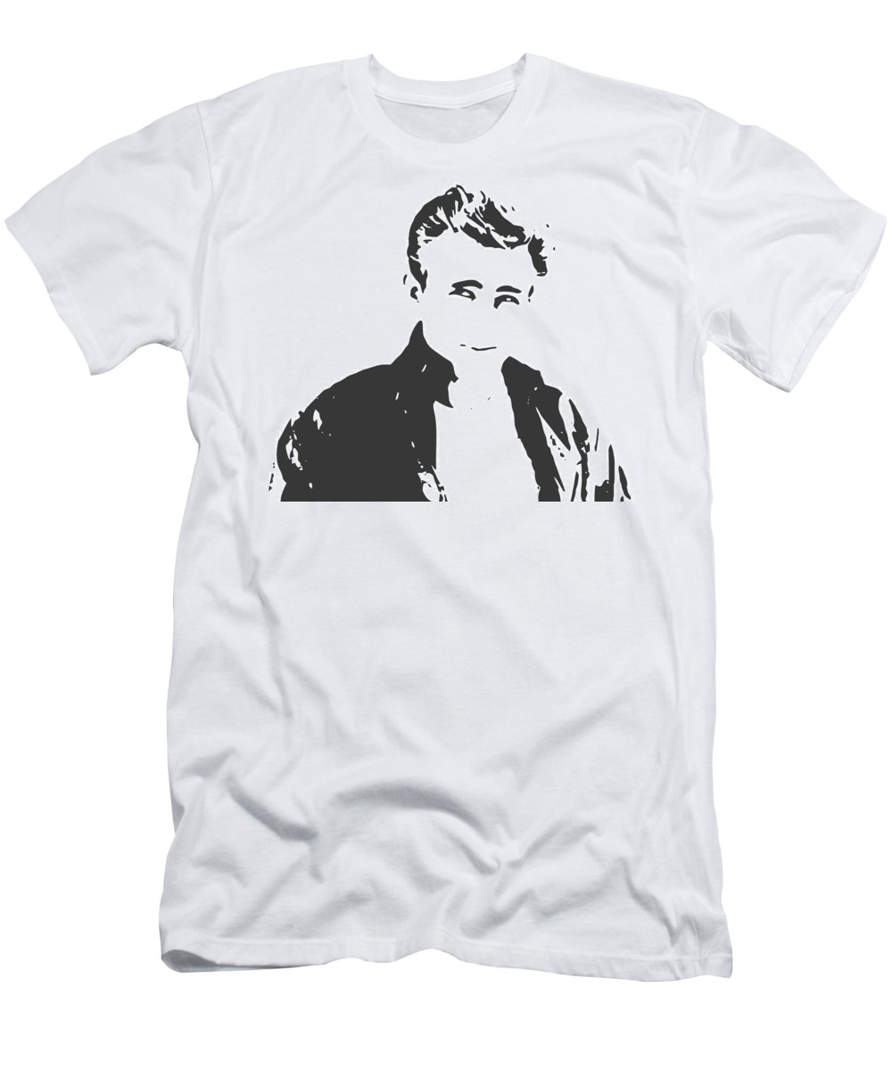 Men's T-Shirt (Athletic Fit) featuring the digital art James Dean by Galeria Trompiz