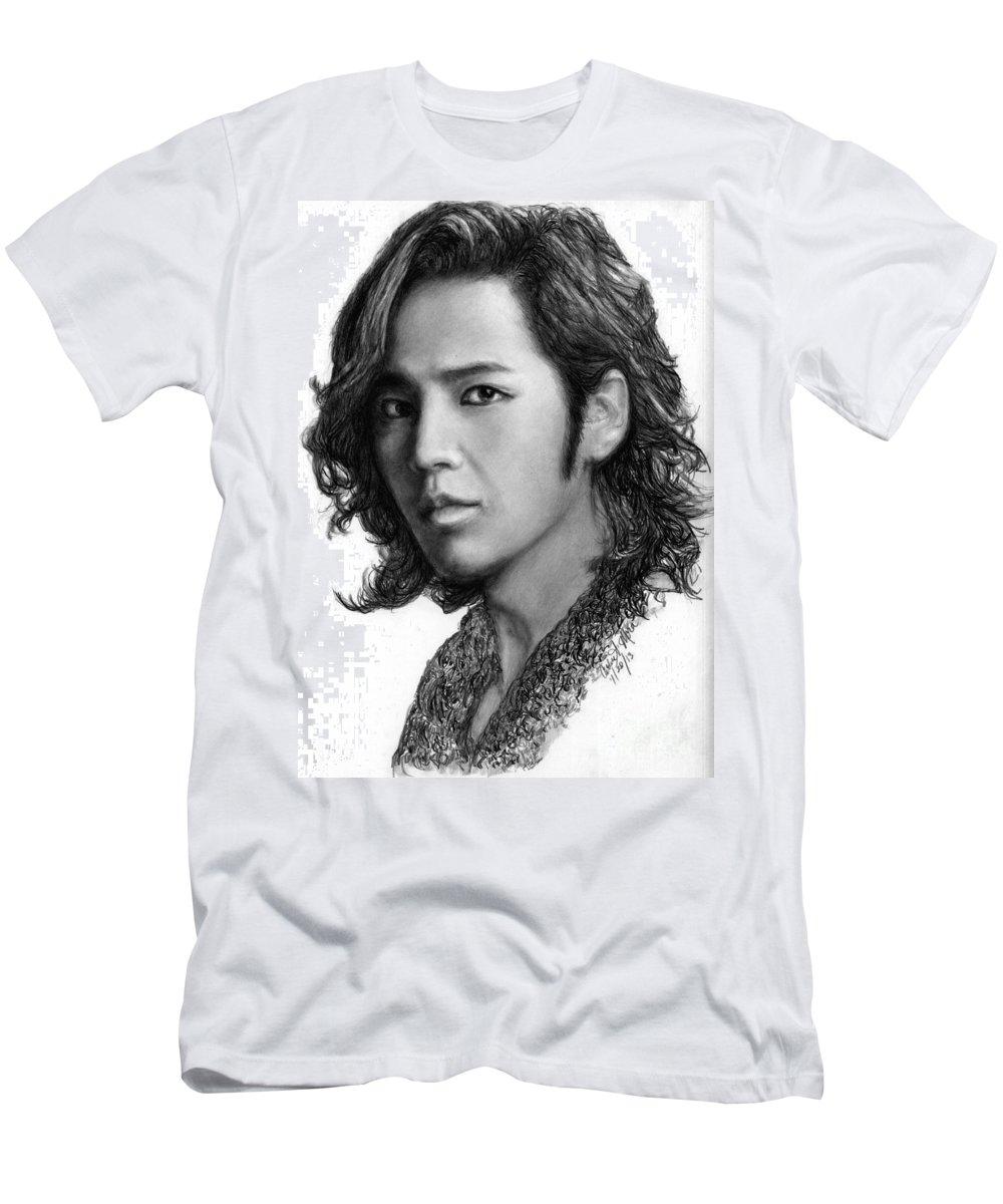 Actor T-Shirt featuring the drawing Jang Geun Suk by Carliss Mora