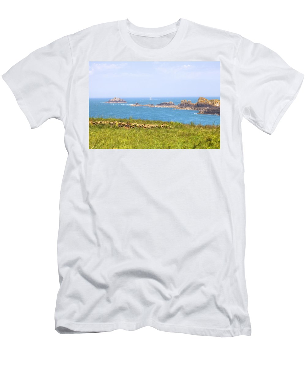 Pointe Du Grouin Men's T-Shirt (Athletic Fit) featuring the photograph Pointe Du Grouin - Brittany by Joana Kruse