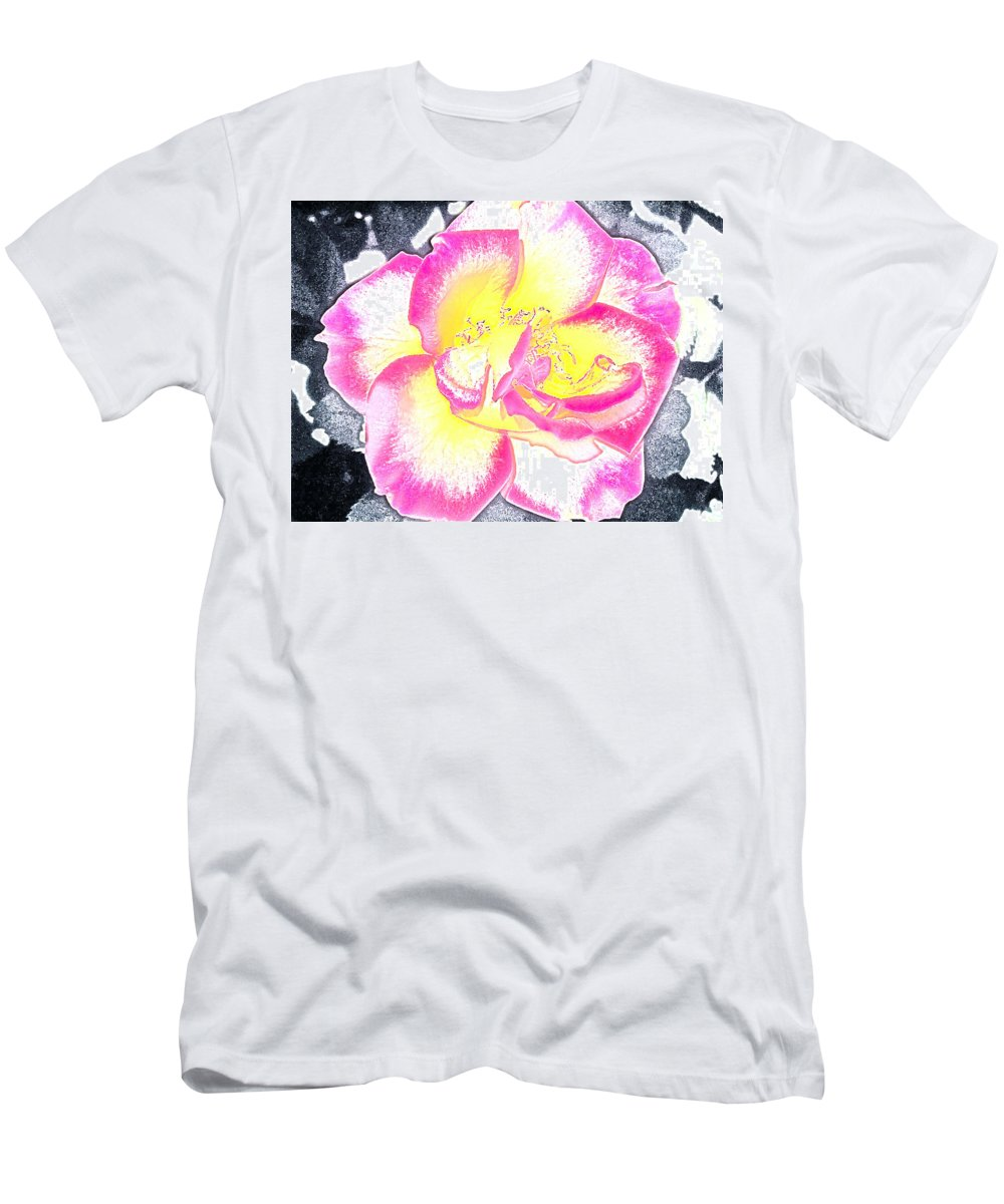 Floral Men's T-Shirt (Athletic Fit) featuring the photograph Rose 3 by Pamela Cooper