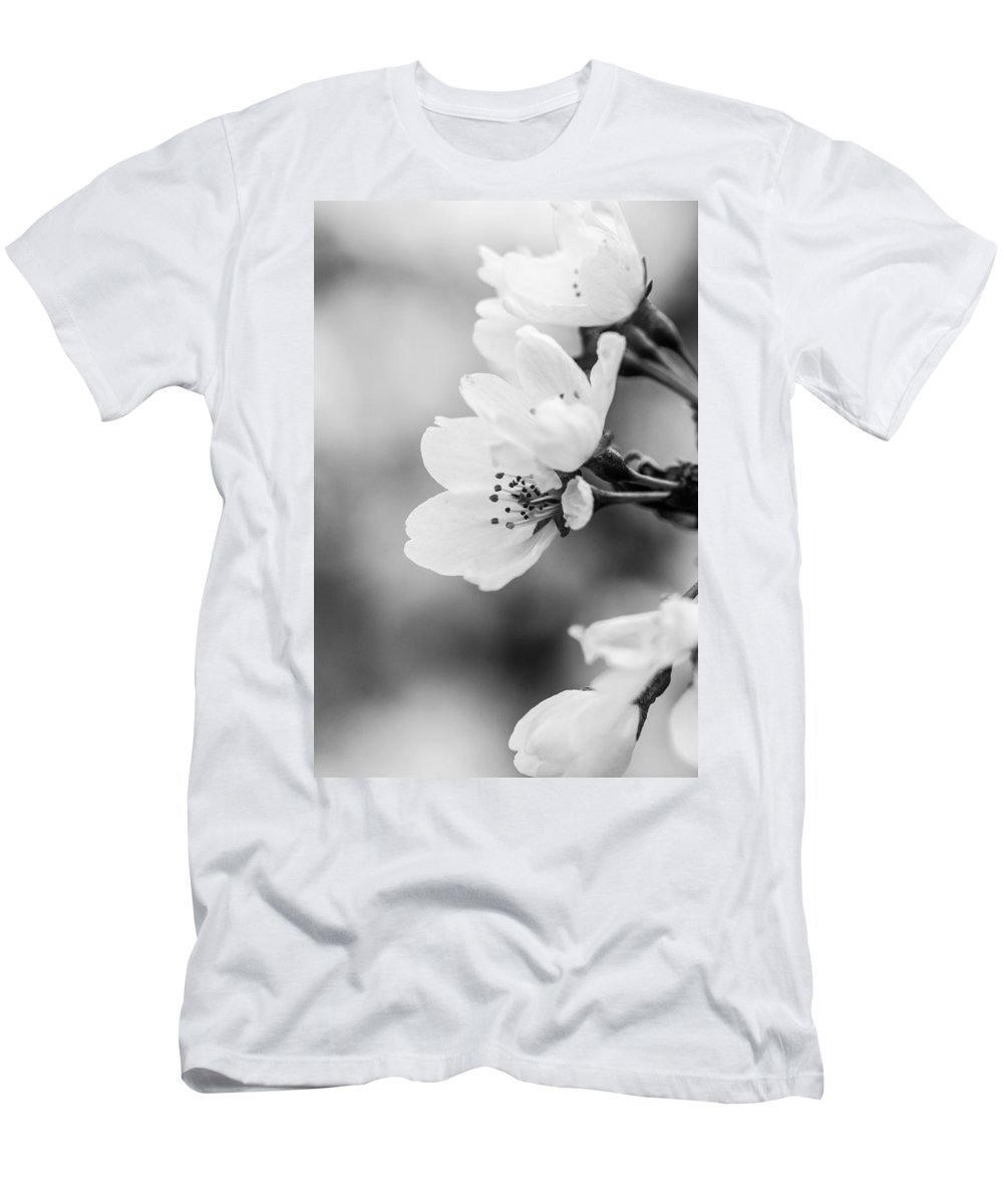 B&w Men's T-Shirt (Athletic Fit) featuring the photograph Spring Flowers by Gaurav Singh