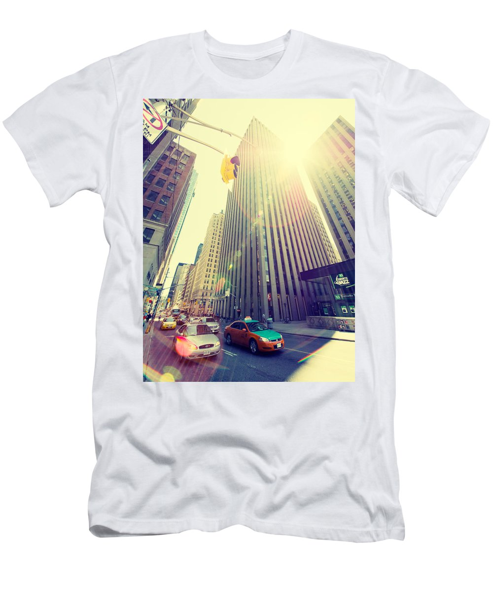 Toronto Men's T-Shirt (Athletic Fit) featuring the photograph Streets Of Toronto by Alexander Voss