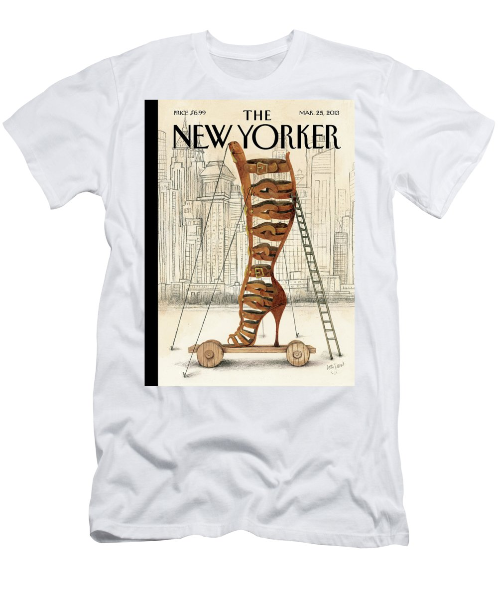 Fashion Men's T-Shirt (Athletic Fit) featuring the painting New Yorker March 25th, 2013 by Ana Juan