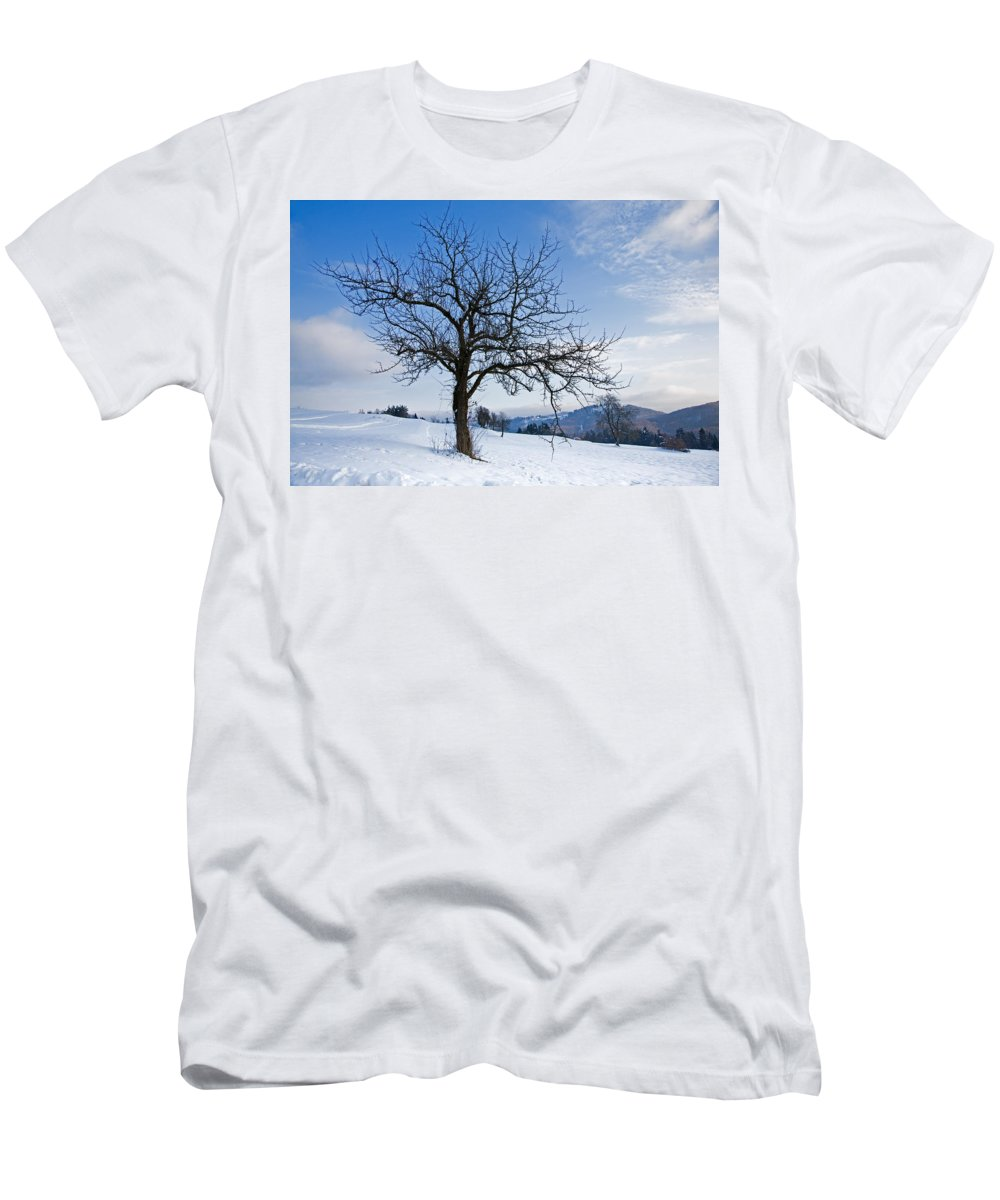 Trees Men's T-Shirt (Athletic Fit) featuring the photograph Winter Landscapes by Ian Middleton