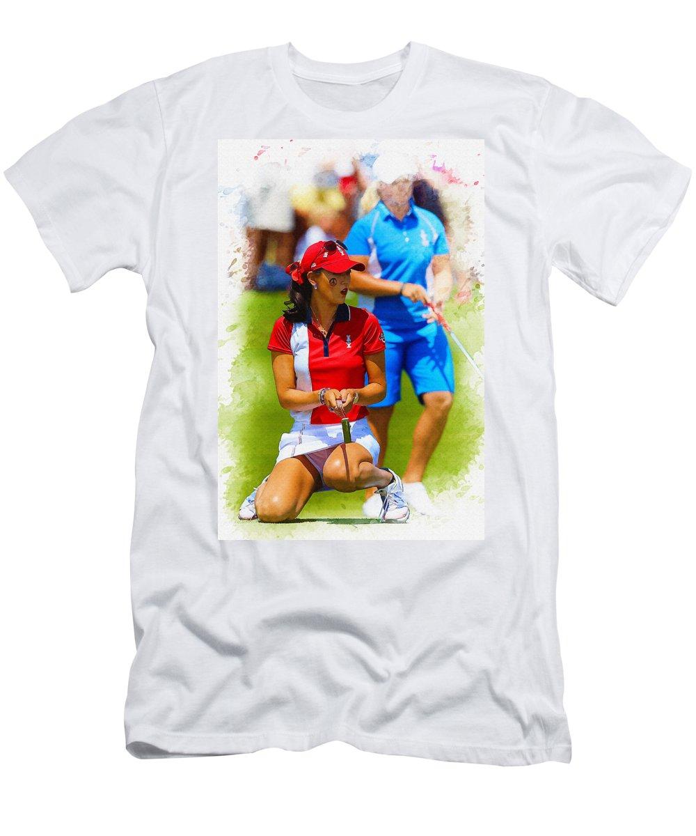2013 Solheim Cup - Michelle Wie Men's T-Shirt (Athletic Fit)