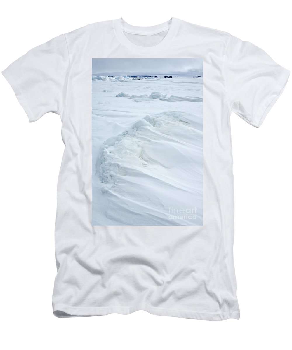 Pack Ice Men's T-Shirt (Athletic Fit) featuring the photograph Pack Ice, Antarctica by John Shaw