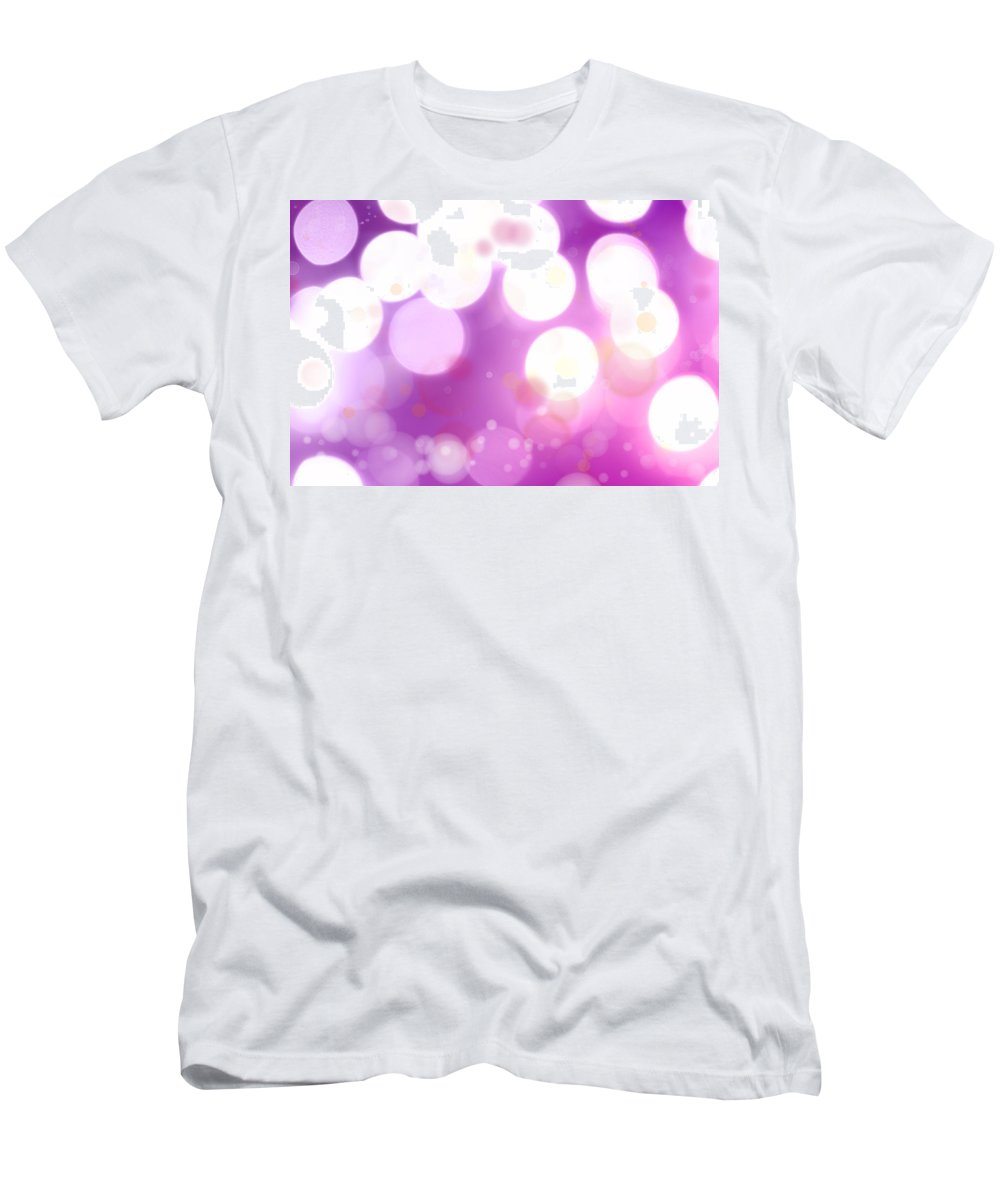 White Men's T-Shirt (Athletic Fit) featuring the photograph Abstract Background by Les Cunliffe