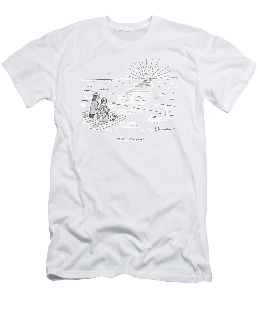 Word Play T-Shirt featuring the drawing That Can't Be Good by Danny Shanahan