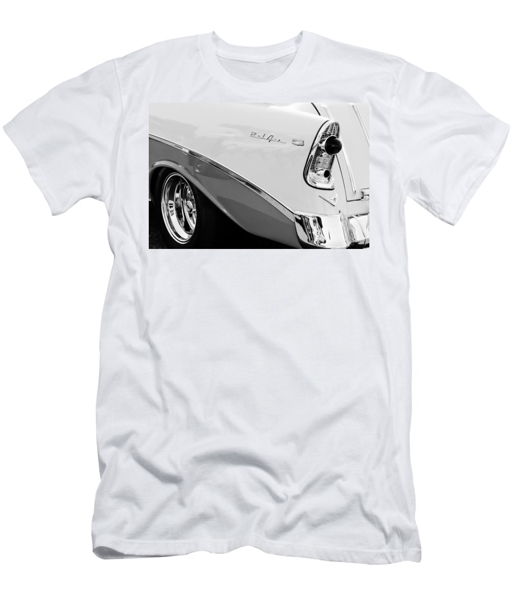 1956 Chevrolet Belair Nomad Taillight Emblem Men's T-Shirt (Athletic Fit) featuring the photograph 1956 Chevrolet Belair Nomad Taillight Emblem by Jill Reger