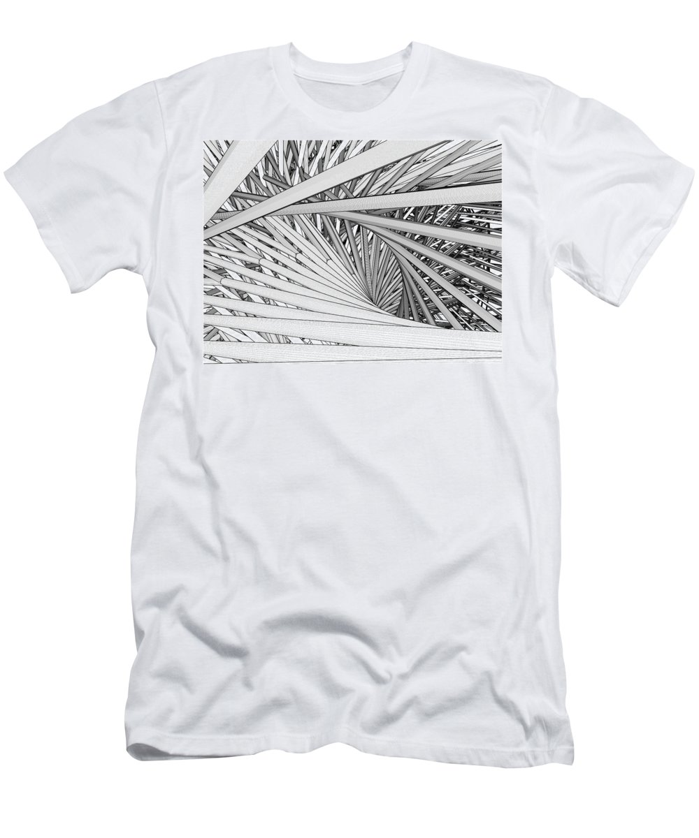Urban Men's T-Shirt (Athletic Fit) featuring the digital art Abstract Urban City Building In Chaos by Nenad Cerovic