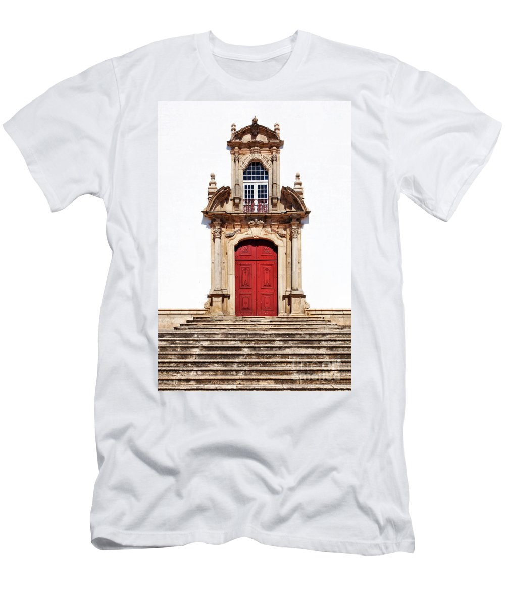 Church Men's T-Shirt (Athletic Fit) featuring the photograph Baroque Portal by Jose Elias - Sofia Pereira