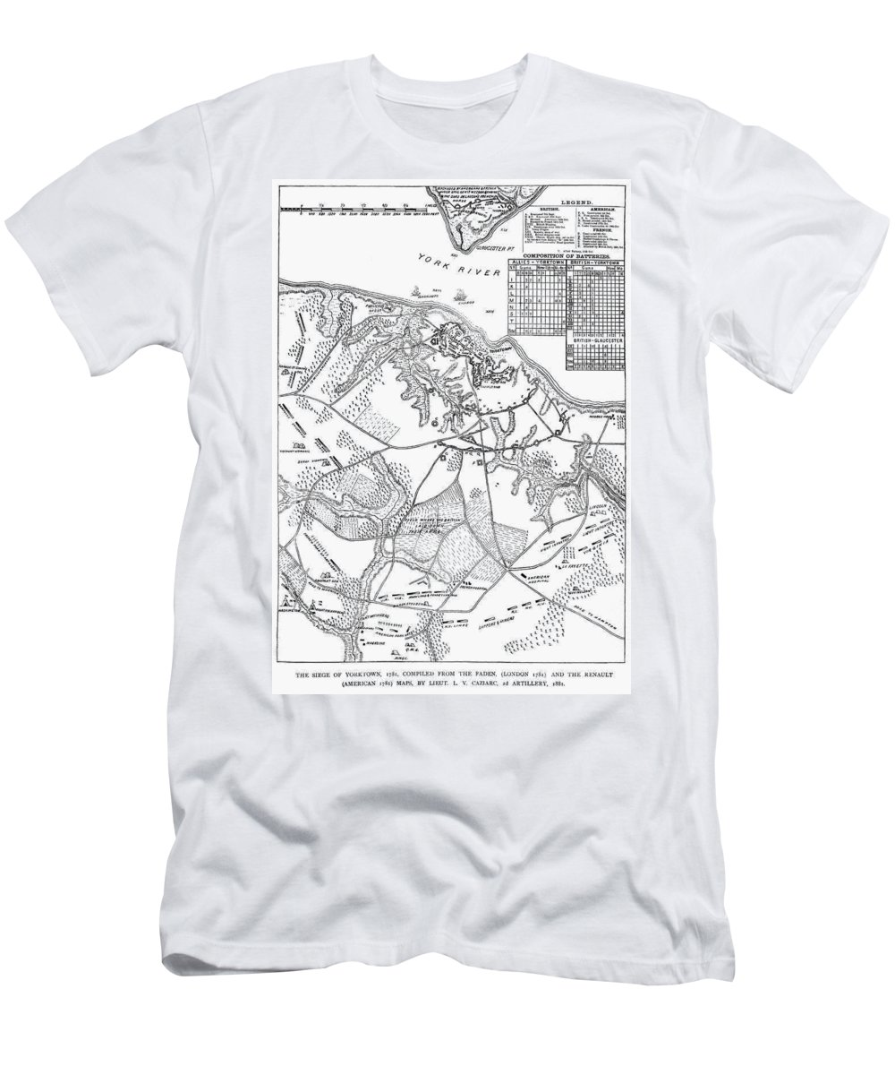 1781 Men's T-Shirt (Athletic Fit) featuring the photograph Battle Of Yorktown, 1781 by Granger