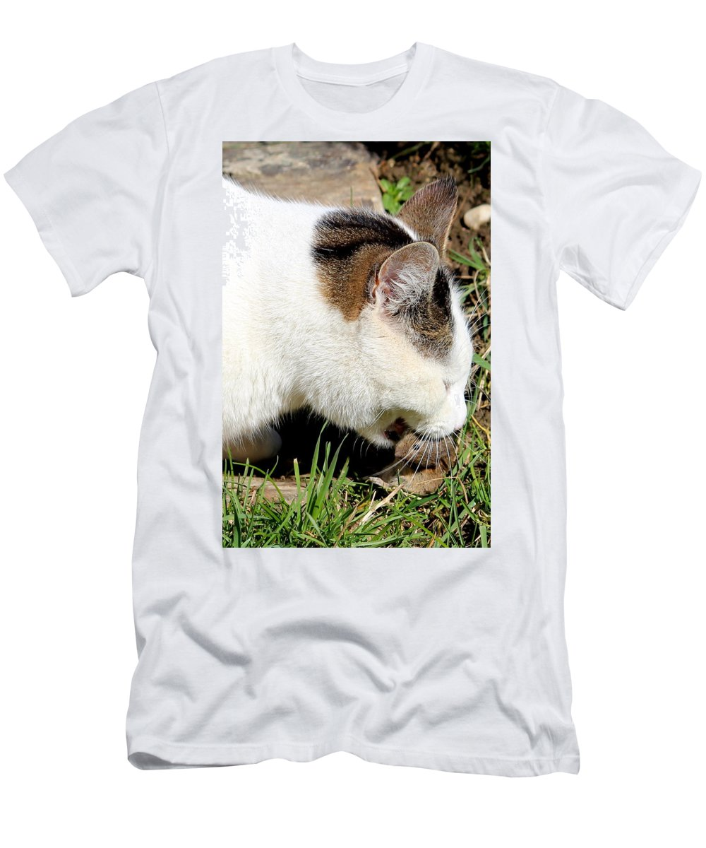 Cat Men's T-Shirt (Athletic Fit) featuring the photograph cat by Heike Hultsch