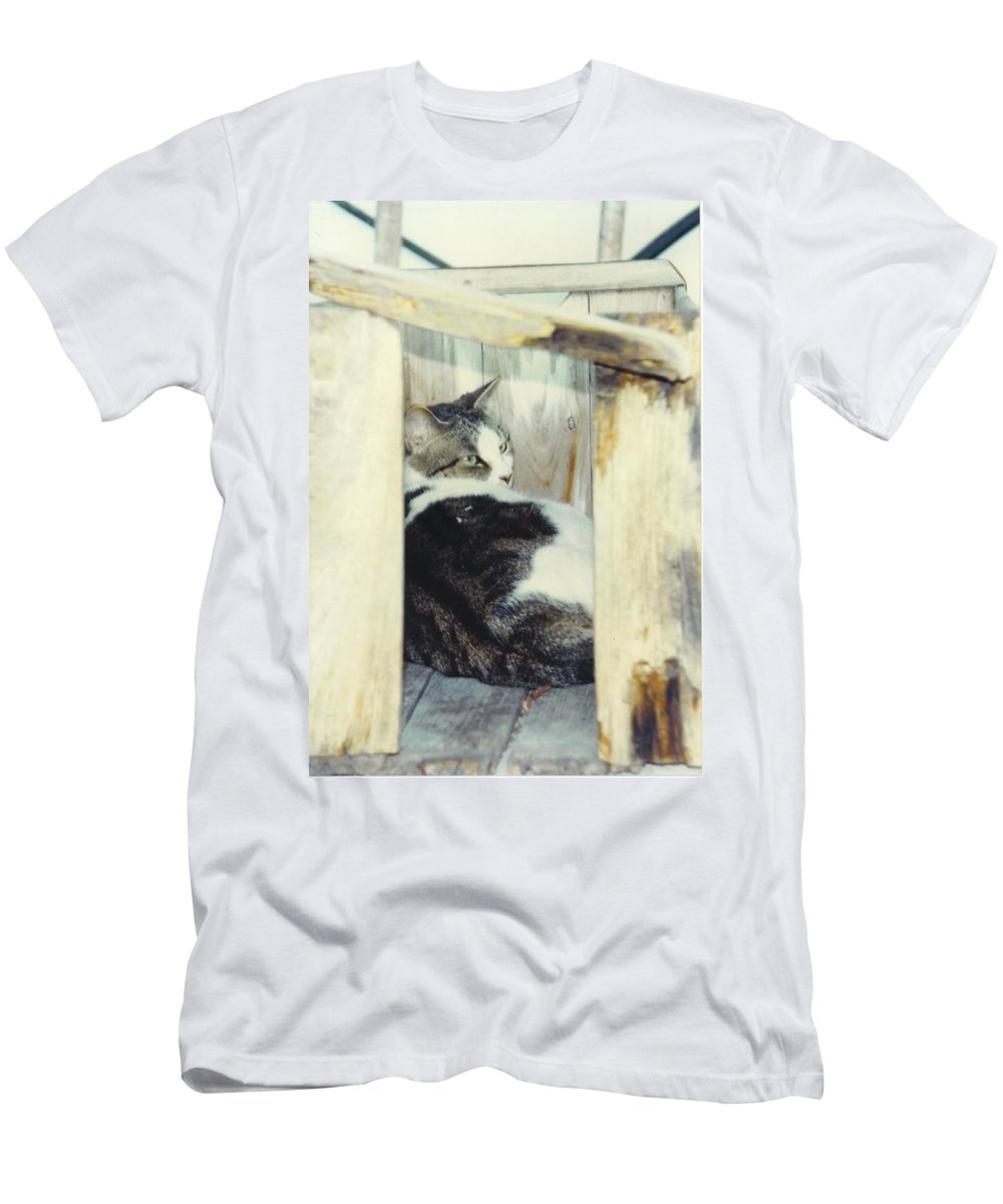 Framed By A Box Men's T-Shirt (Athletic Fit) featuring the photograph Emmie by Robert Floyd