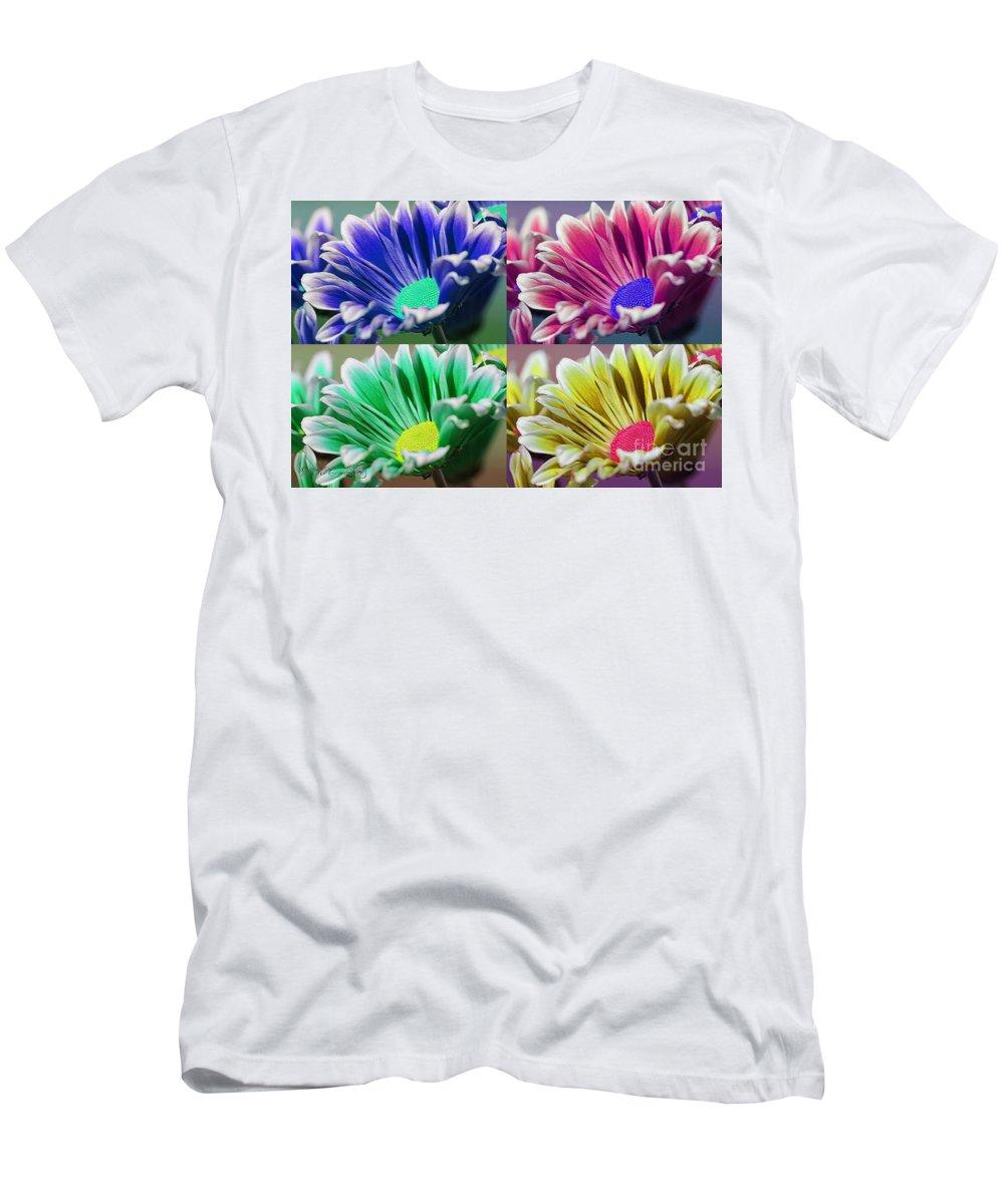 Mccombie Men's T-Shirt (Athletic Fit) featuring the photograph Firmenish Bicolor Pop Art Shades by J McCombie