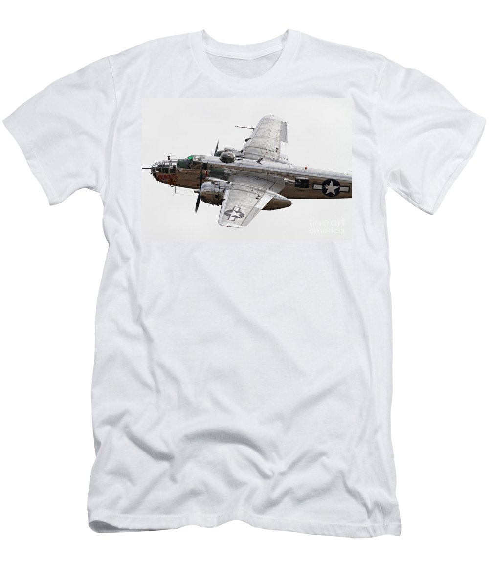 Bomber Men's T-Shirt (Athletic Fit) featuring the photograph Vintage World War II Aircraft by Kevin McCarthy