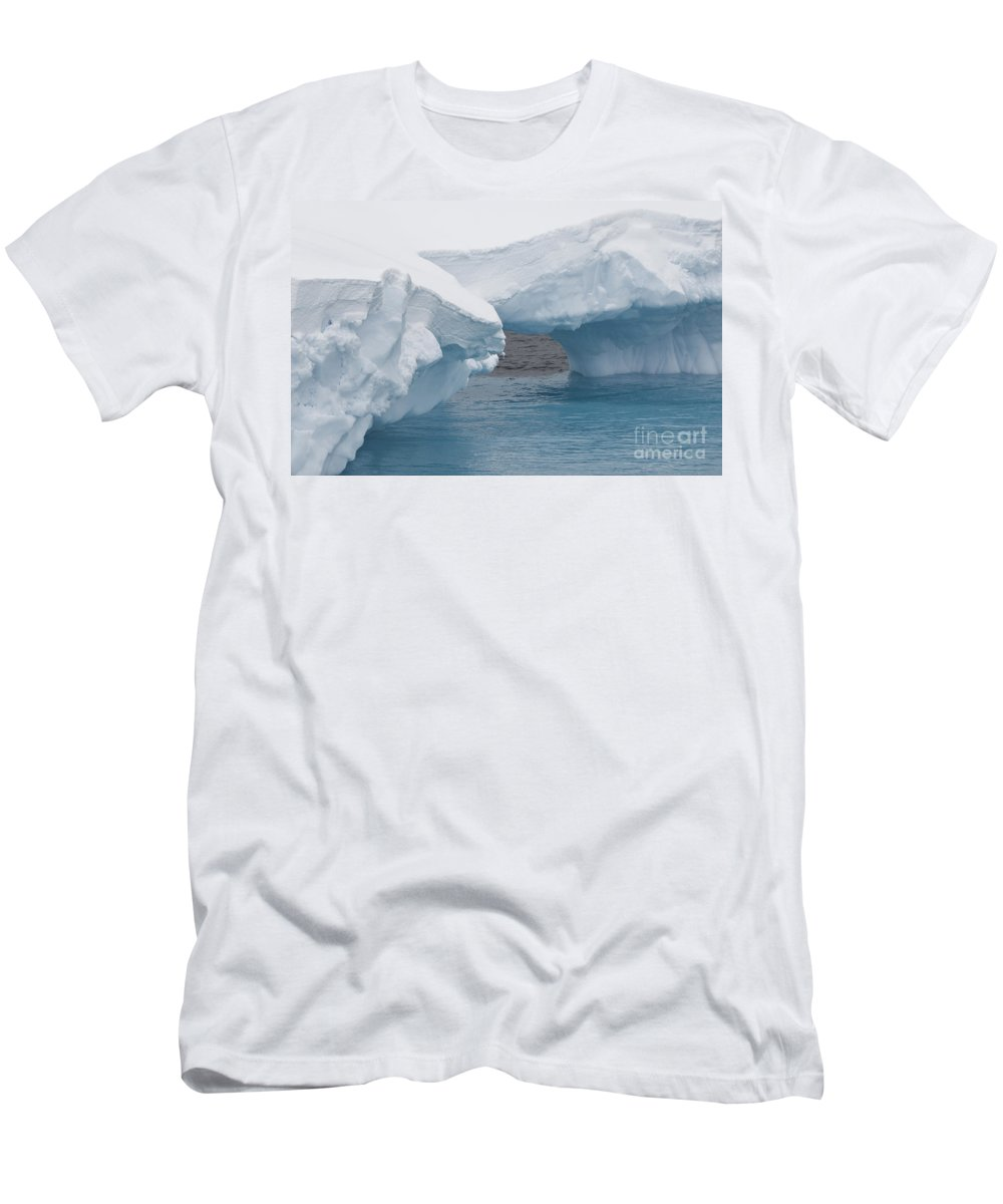 Antarctica Men's T-Shirt (Athletic Fit) featuring the photograph Iceberg, Antarctica by John Shaw
