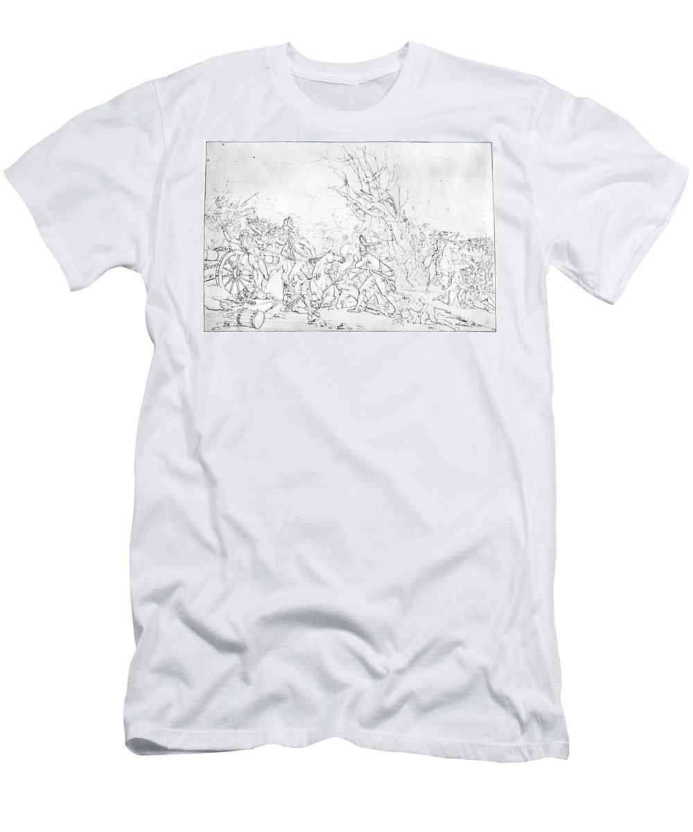 1777 Men's T-Shirt (Athletic Fit) featuring the photograph Battle Of Princeton, 1777 by Granger