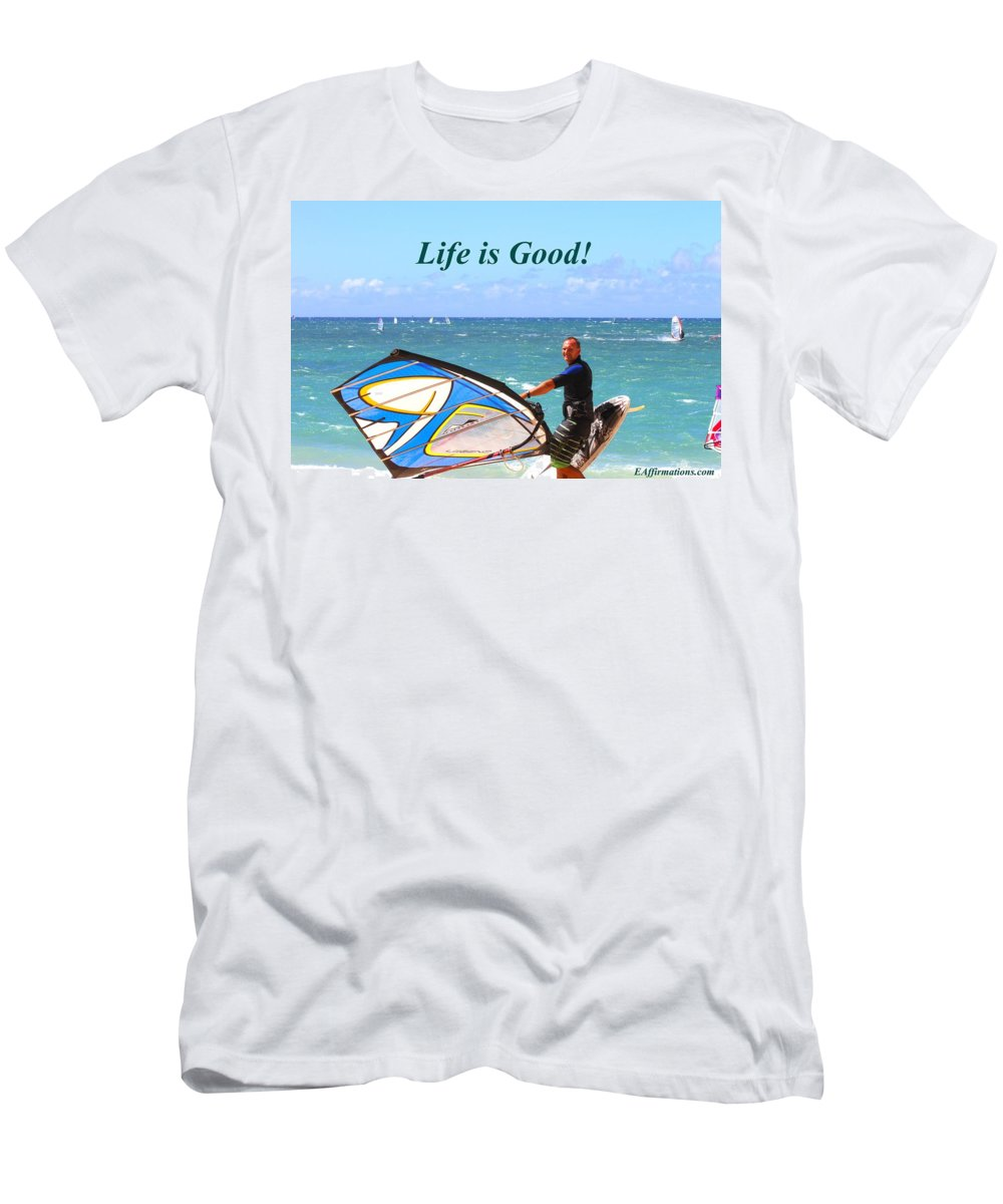 Sam Bockius Men's T-Shirt (Athletic Fit) featuring the photograph Life Is Good by Pharaoh Martin