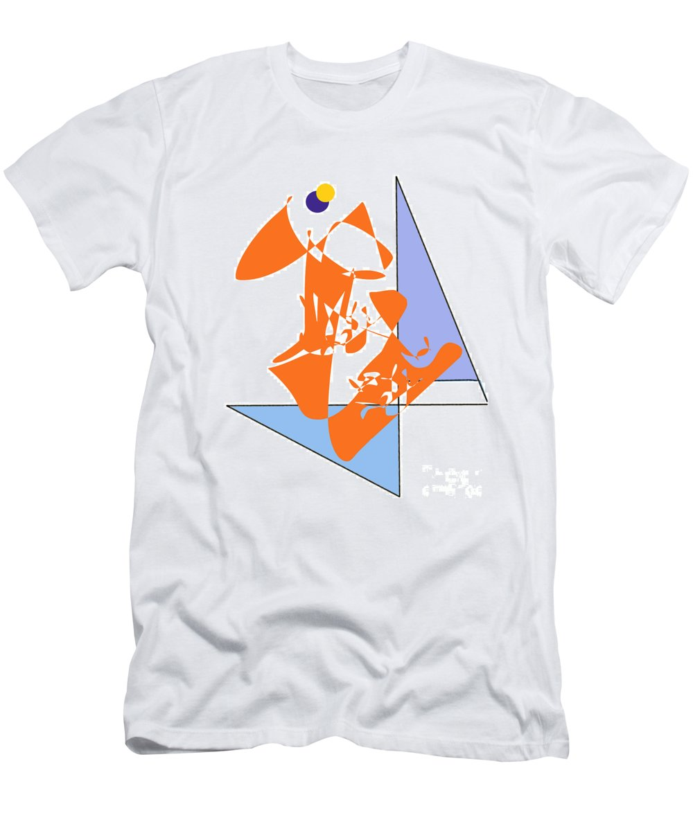 Men's T-Shirt (Athletic Fit) featuring the digital art No. 1 by John Grieder