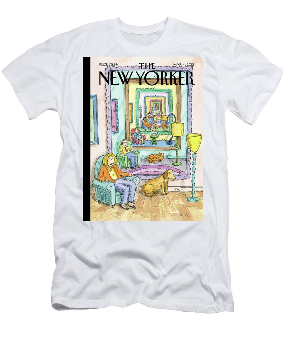 Dog T-Shirt featuring the painting Ad Infinitum by Roz Chast