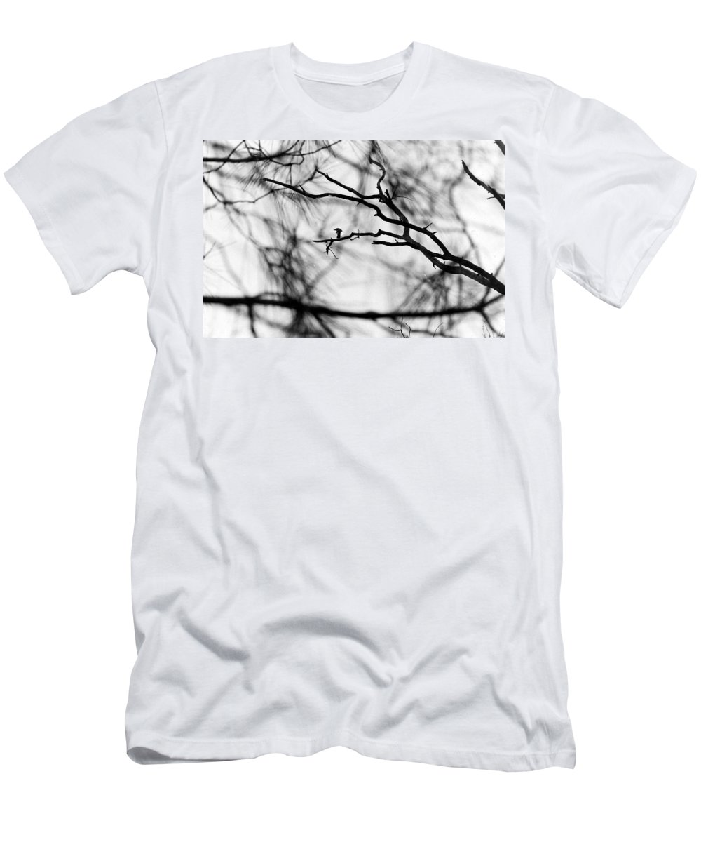Birds Men's T-Shirt (Athletic Fit) featuring the photograph Bird In Tree by Karl Rose
