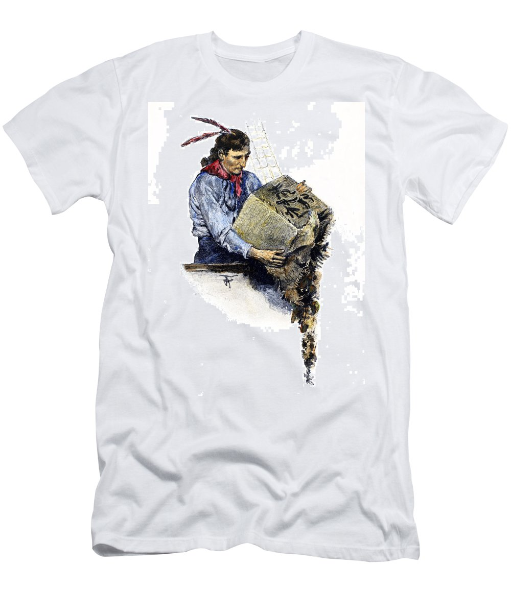 1773 Men's T-Shirt (Athletic Fit) featuring the photograph Boston Tea Party, 1773 by Granger