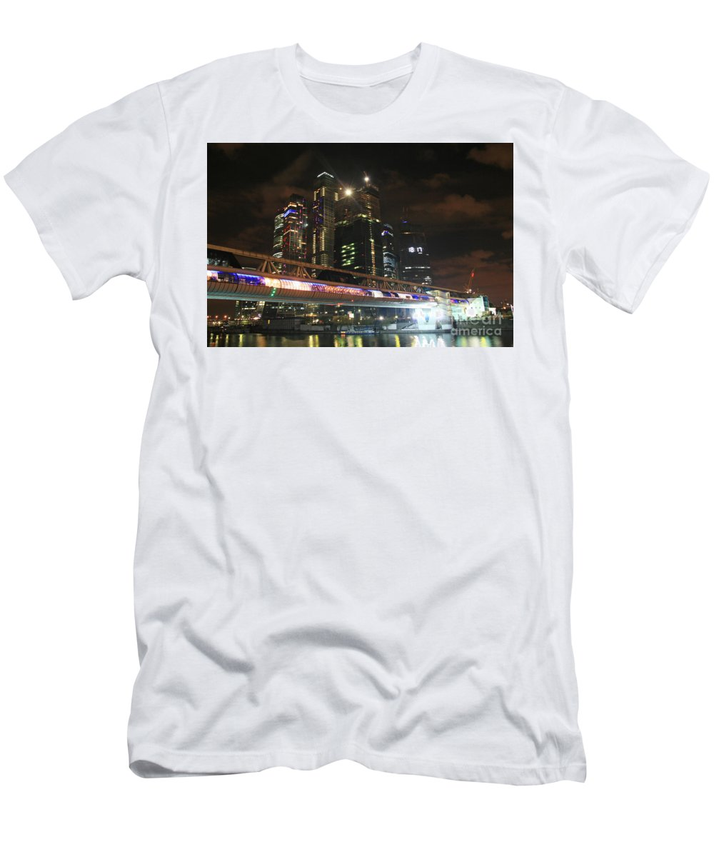 Night Men's T-Shirt (Athletic Fit) featuring the photograph Moscow by Lali Kacharava