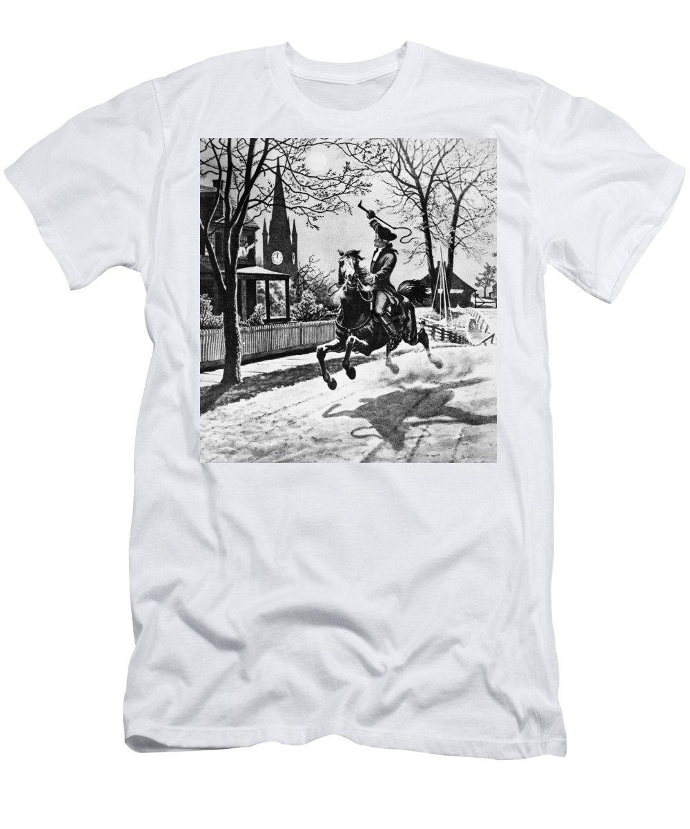1775 Men's T-Shirt (Athletic Fit) featuring the photograph Paul Reveres Ride, 1775 by Granger