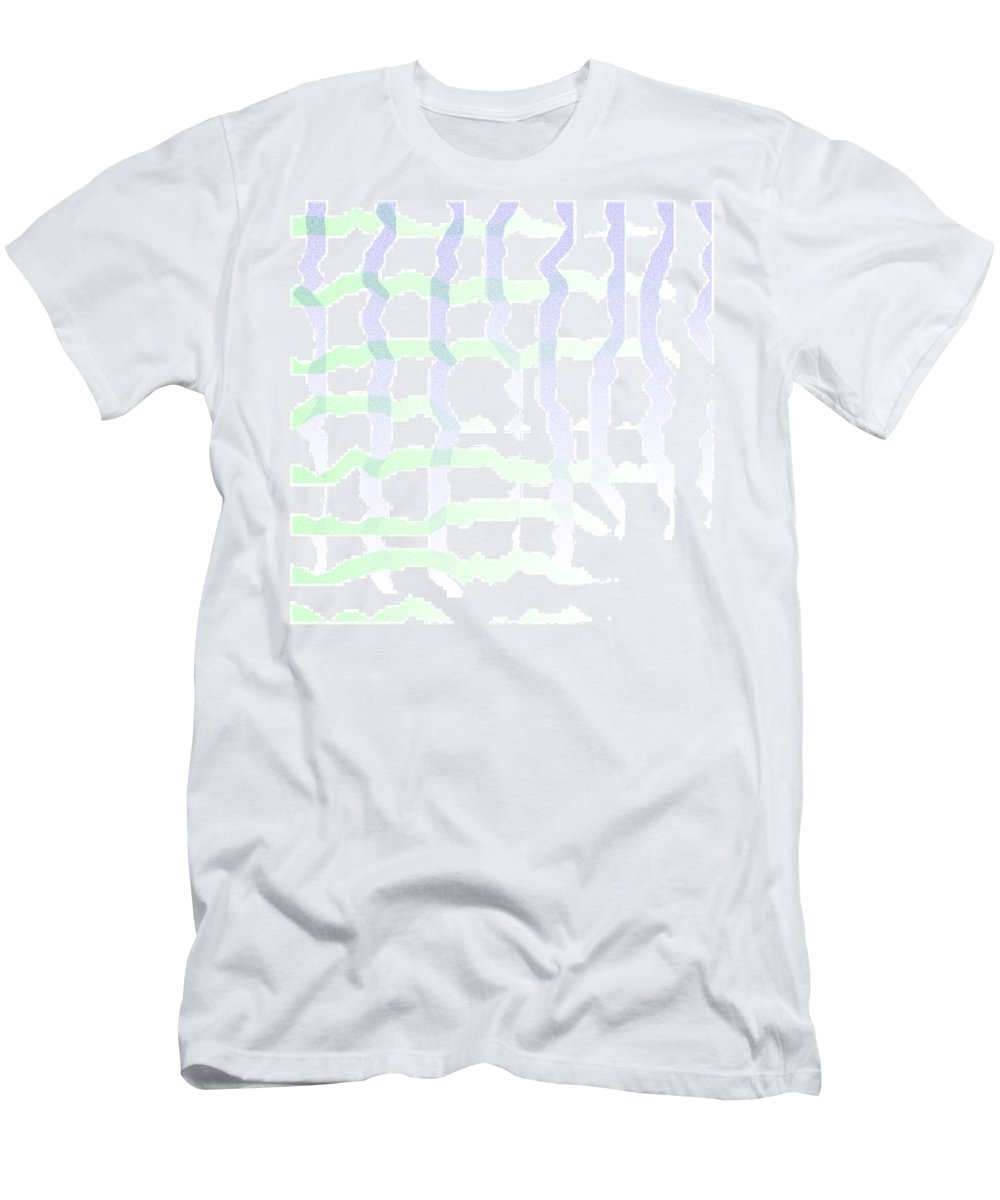 Abstract Men's T-Shirt (Athletic Fit) featuring the digital art 5040.24.6 by Gareth Lewis