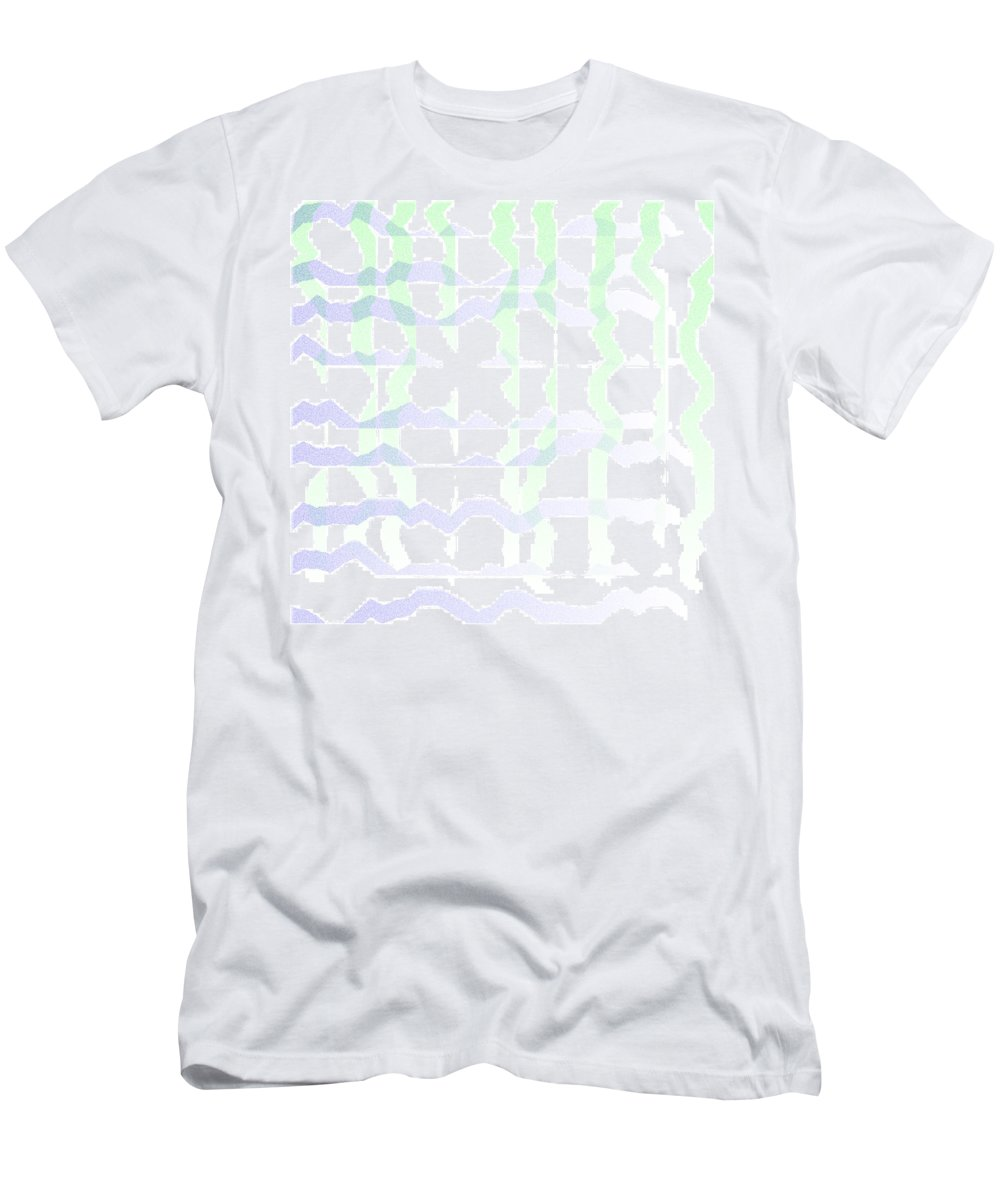 Abstract Men's T-Shirt (Athletic Fit) featuring the digital art 5040.24.8 by Gareth Lewis