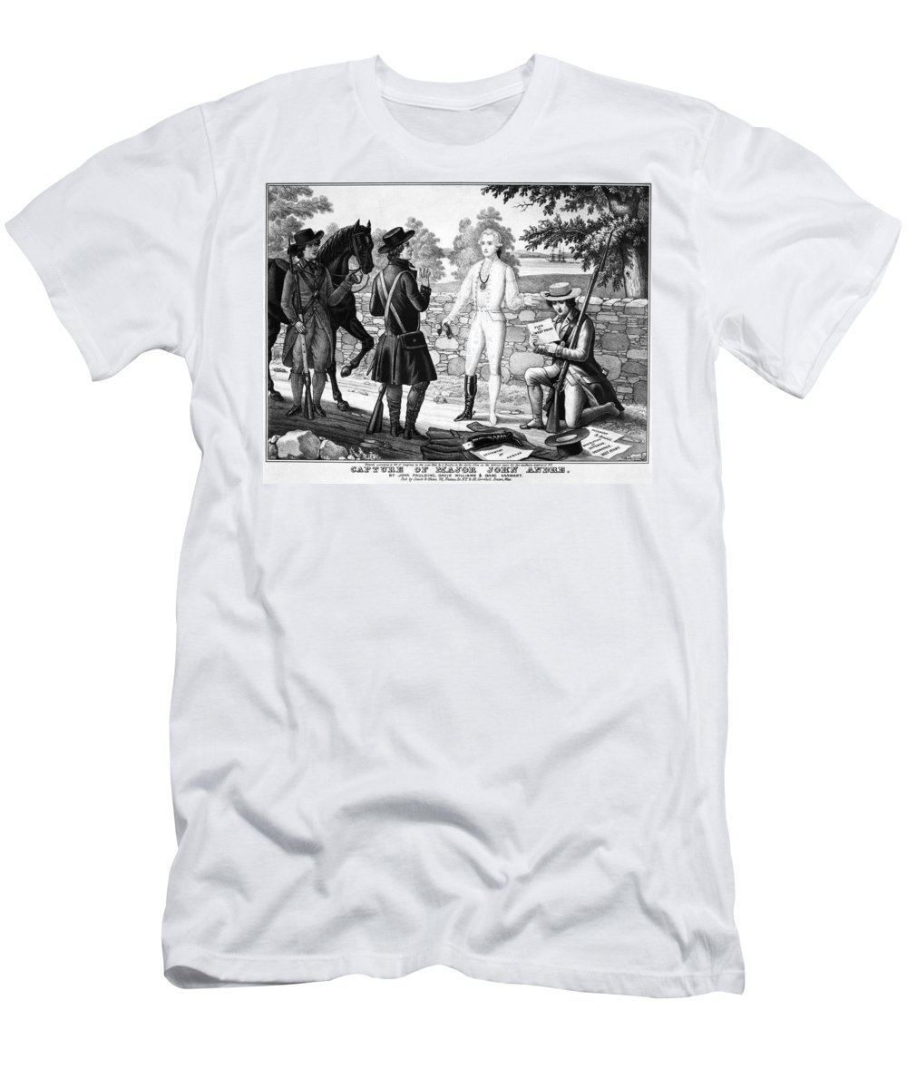 1780 Men's T-Shirt (Athletic Fit) featuring the photograph John Andre (1751-1780) by Granger
