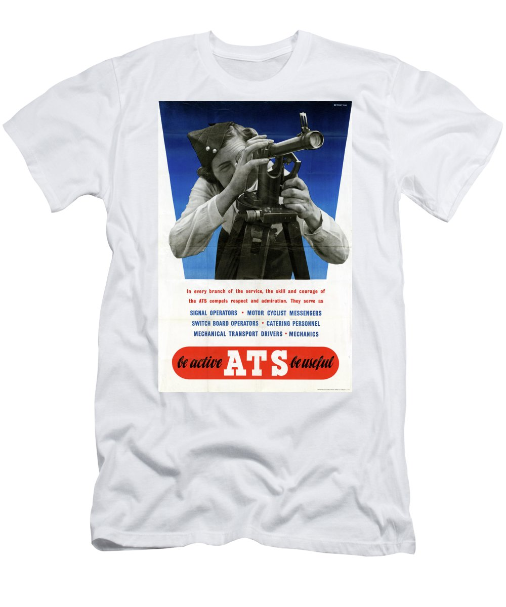 1940s Men's T-Shirt (Athletic Fit) featuring the photograph Poster Women Workers by Granger