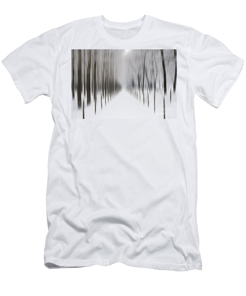 Winter Men's T-Shirt (Athletic Fit) featuring the photograph Winter Road by Mats Silvan