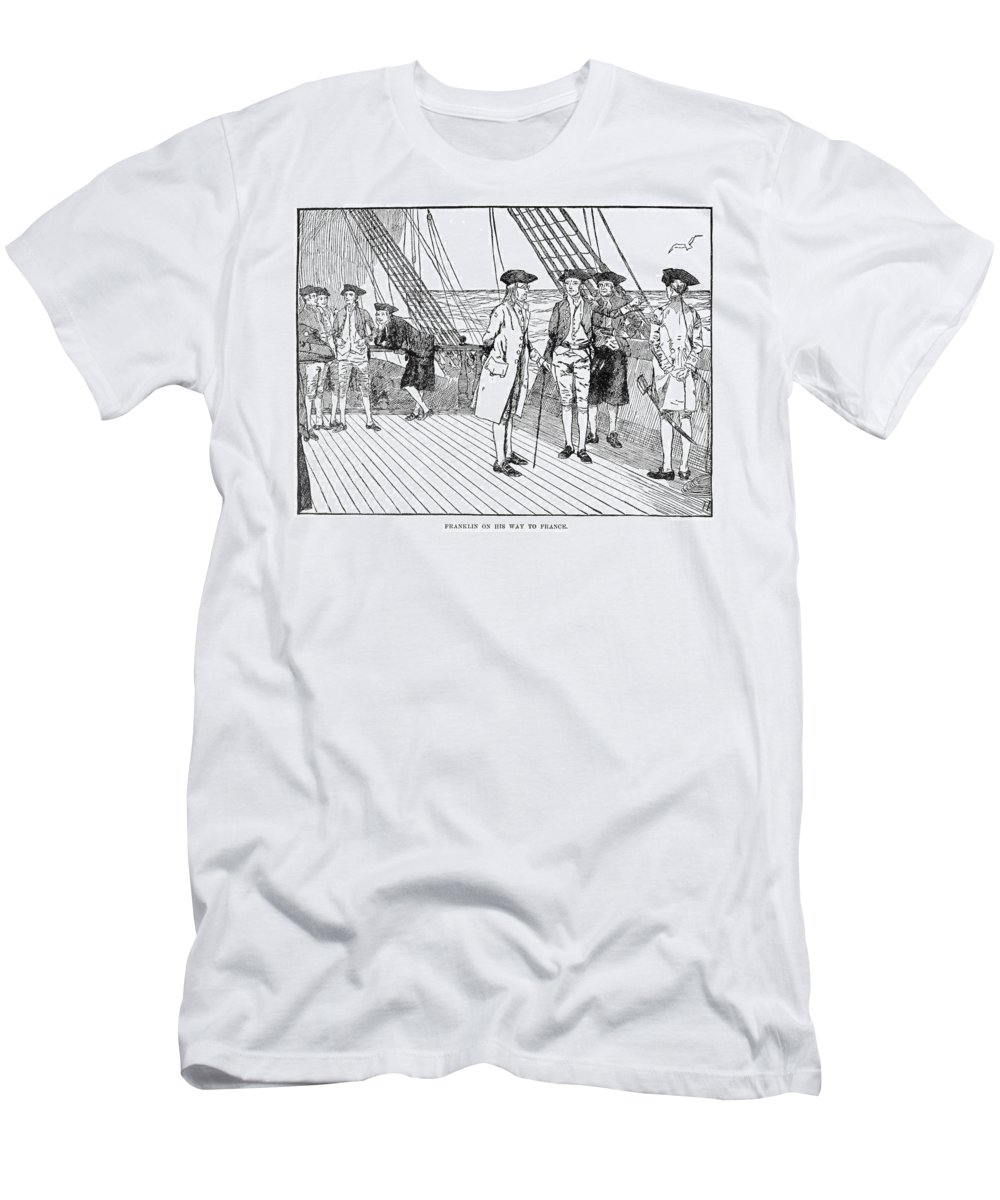 1776 Men's T-Shirt (Athletic Fit) featuring the photograph Benjamin Franklin (1706-1790) by Granger