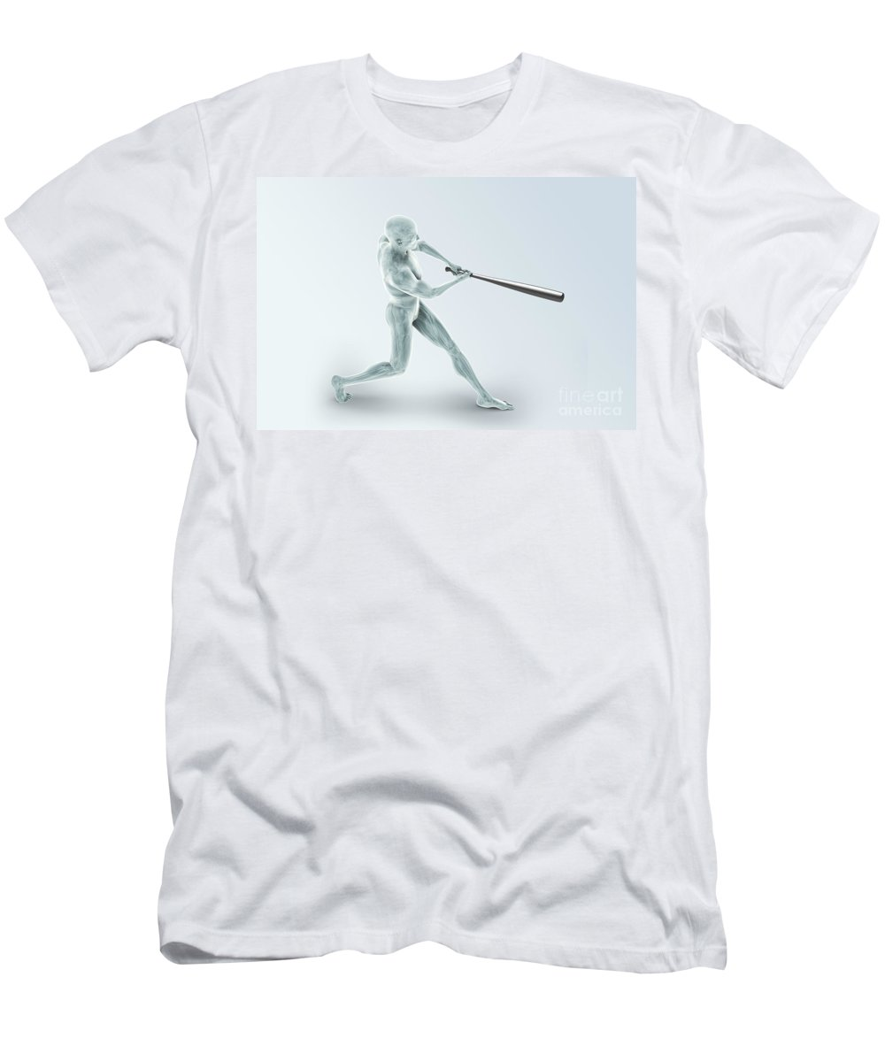Transparent Men's T-Shirt (Athletic Fit) featuring the photograph Baseball Swing by Science Picture Co