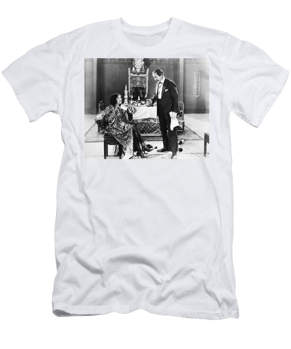 1920s Men's T-Shirt (Athletic Fit) featuring the photograph Film Still: Eating & Drinking by Granger