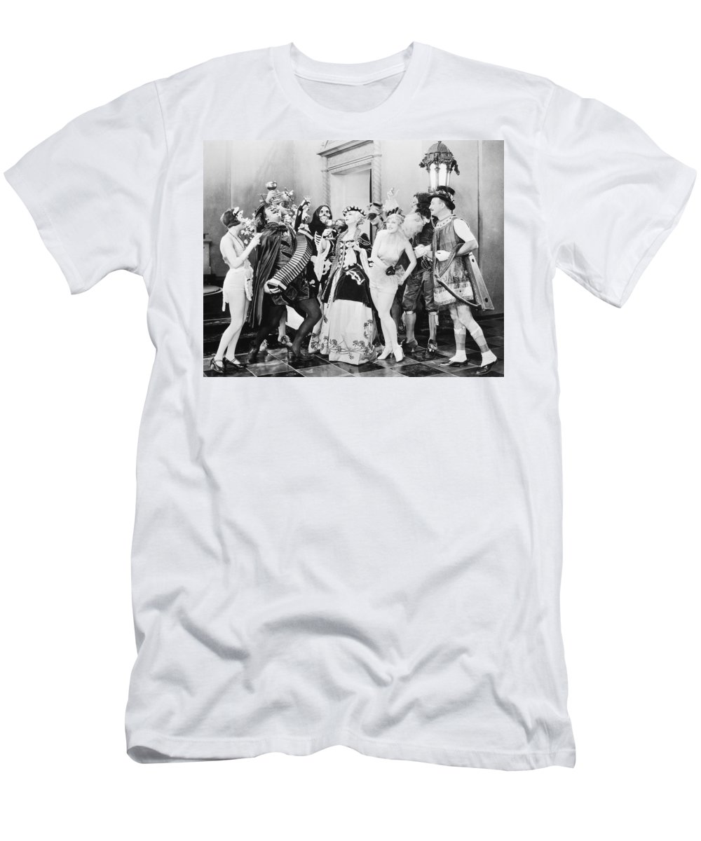 1920s Men's T-Shirt (Athletic Fit) featuring the photograph Silent Film Still: Parties by Granger