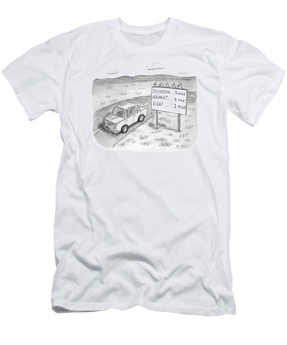 Argument Men's T-Shirt (Athletic Fit) featuring the drawing New Yorker August 1st, 2016 by Roz Chast