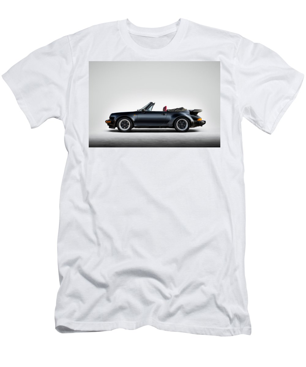 Black Men's T-Shirt (Athletic Fit) featuring the digital art 911 Cabrio by Douglas Pittman