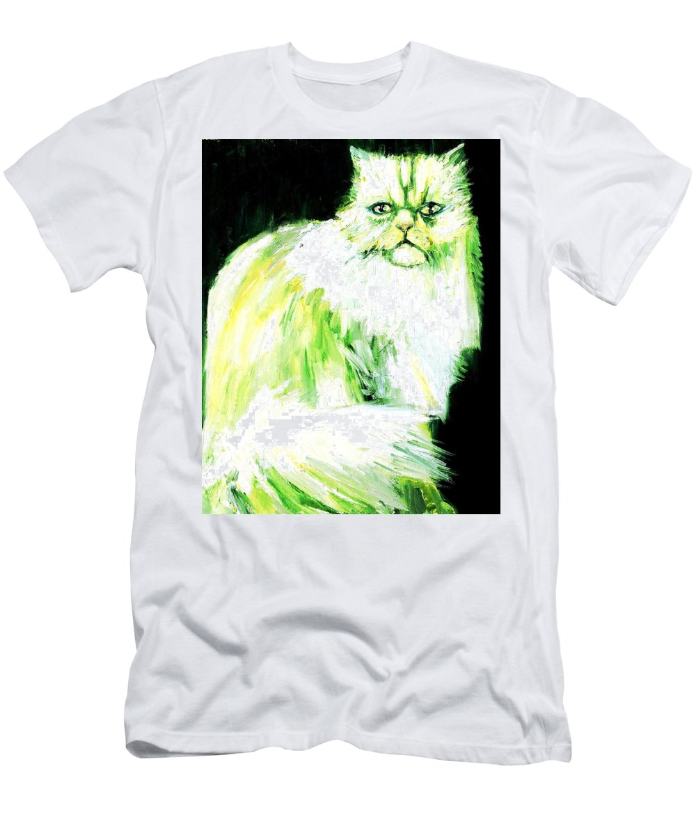 Cat Men's T-Shirt (Athletic Fit) featuring the painting A Dionysan Goddess Of Delight by Fabrizio Cassetta