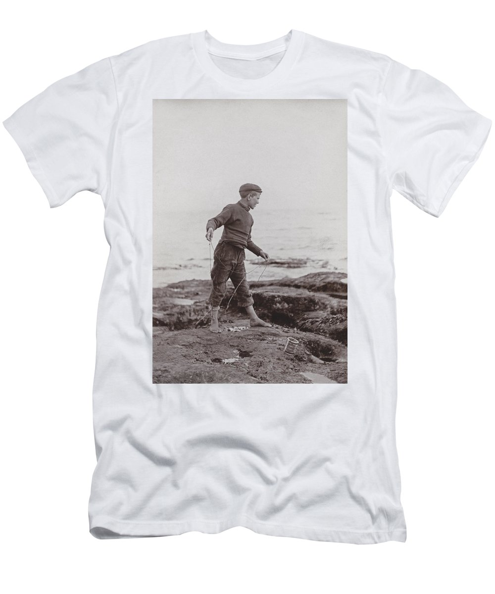 Boy Men's T-Shirt (Athletic Fit) featuring the photograph A Fisher Laddie by James Patrck