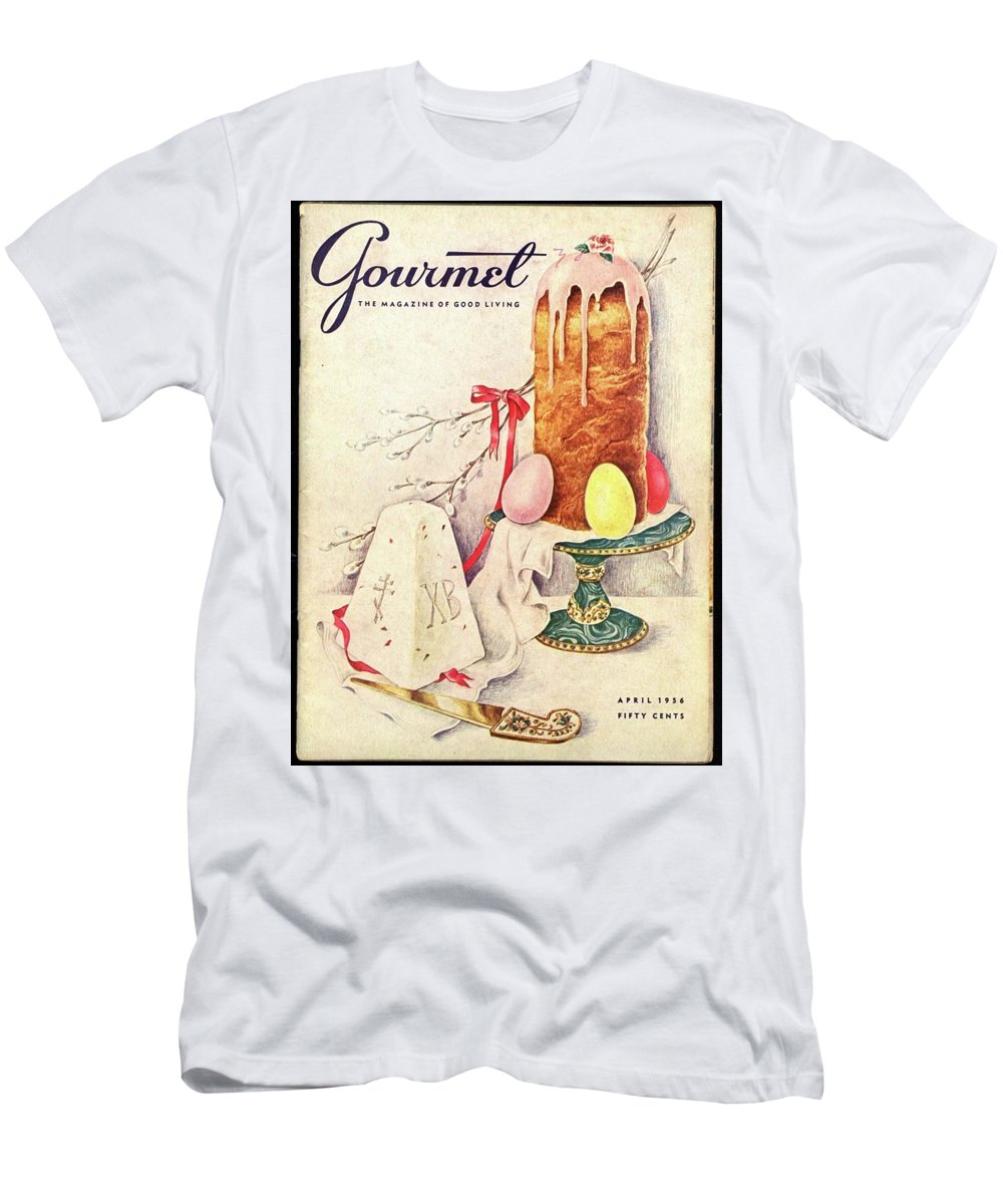 Food Men's T-Shirt (Athletic Fit) featuring the photograph A Gourmet Cover Of A Cake by Hilary Knight